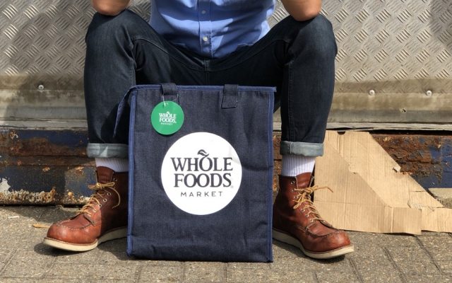 WBC Bags for Life design denim cooler bag for Whole Foods Market