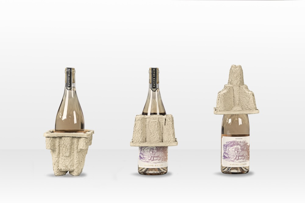 WBC transit packaging for bottles that is 100% green